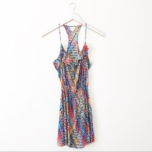 Parker - Geo Print Silk RacerBack Dress